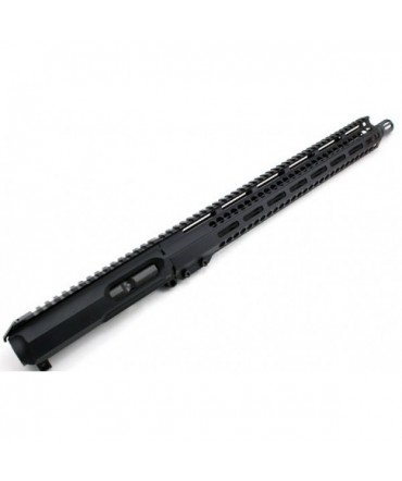 """Moriarti Armaments AR-9 16"""" LRBHO SLICK SIDE COMPLETE UPPER ASSEMBLY WITH BCG AND CH"""