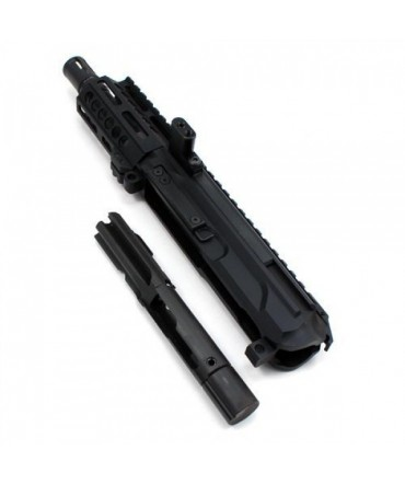 """Moriarti Armaments AR-45 4"""" SIDE CHARGING LRBHO PISTOL COMPLETE UPPER ASSEMBLY WITH BCG"""
